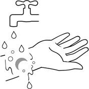 Оставшейся гель смойте водой